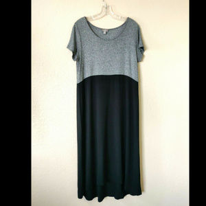 J. Jill Wearever MP Maxi Dress Black Gray